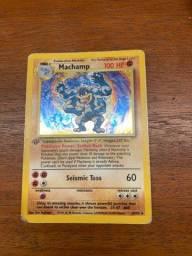 Carta pokemon 1 Edition Machamp rara