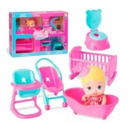 Boneca Little Dolls casinha