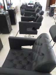 Cadeira p cabelereiro top reclinável  profissional