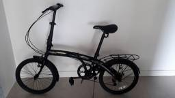 Bicicleta Preta Dobrável Aro 20 - Durban (semi-nova)