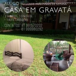 ALUGO CASA EM GRAVATÁ