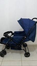 Carrinho lindo azul + BB conforto!
