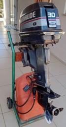 Motor de Popa 30HP 2T Evinrude + carrinho/suporte