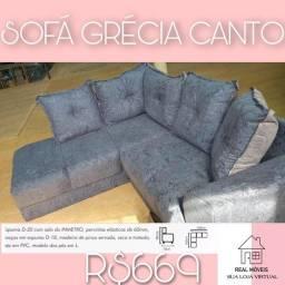 sofa cinza sofa