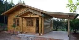 Casas de madeira e paisagismo