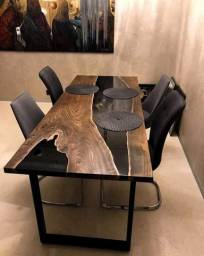 Mesa river table resina