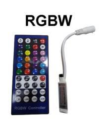 Controlador + Controle para Fita de Led RGBW 40 teclas 5050 e 3528