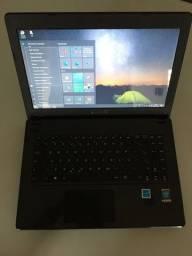 Notebook Asus X451C, Processador Intel I3 1,5 ghz , HD SSD 256 gb novo e 4GB de memória