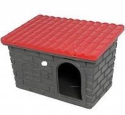 casa para cães de porte médio marca Mokoi, vermelha