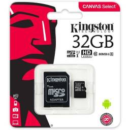 Cartão de Memória Micro SD 32GB Kingston 64GB Classe 10
