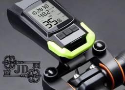 Velocímetro lanterna de bicicleta multifuncional - mede kalorias, kilometragem e buzina
