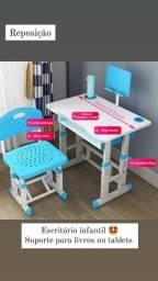 Mesa De Estudo Escrivania Infantil Com Regulagem De Altura