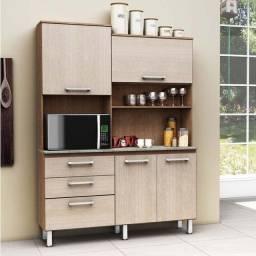 Promoção - Armário de Cozinha compacto 4 portas e 3 gavetas Inovare