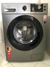 Lavadora de Roupas Midea Storm Wash LFA11X1 Inox - Inverter 11kg 127V