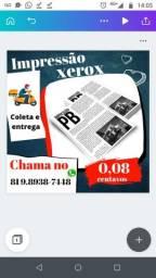 Impressão e Xerox, 0,8 centavos,