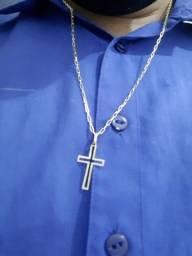 Vendo cordao de ouro 18k com crucifixo