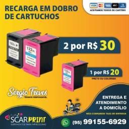 Promoção de recarga de cartuchos de impressora em domicílio sem taxa