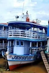 Barco de madeira Azul