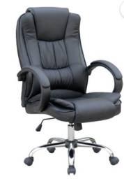 Cadeira Escritório Presidente, Base Cromada