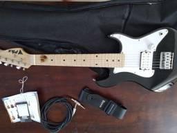 Guitarra elétrica pequena infantil