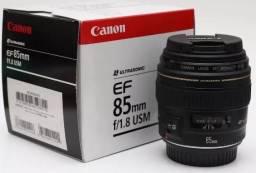 Lente 85mm f1.8 Canon (semi-nova)