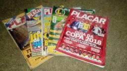 Lote guias da copa + revistas placar raridade!