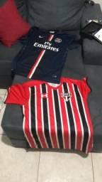 Camisa Paris St germaim e camisa do São Paulo