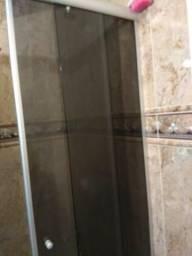 Box Blindex Fumê para banheiro - pequeno 4 portas 2 de correr