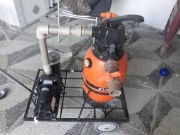 Motor com bomba e filtro para piscina