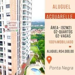 Aluga-se Acquarele 2 quartos e sala ampliada, vista maravilhosa p/ Rio ( aceitamos cartão)