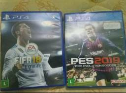 Vendo Pes19 e Fifa18 do PlayStation 4