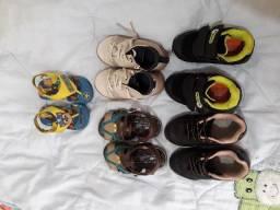 Lote roupa e sapato menino