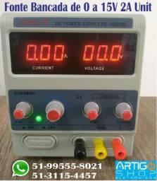 Fonte Bancada de 0-15V 2A Digital Ps-1502dd Unit 220V