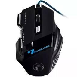 Mouse Gamer Estone X7 2400dpi Ergonomic Red Blue