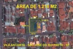 Terreno à venda, 1218 m² por R$ 850.000,00 - Vila Anchieta - São José do Rio Preto/SP