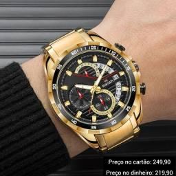 Relógio masculino original Swish cronógrafo premium