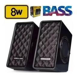 Caixa De Som Para Notebook Tablet Vox Cube 8w Rms - Loja Natan Abreu