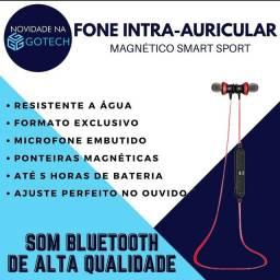 Fone intra-auricular bluetooth magnético