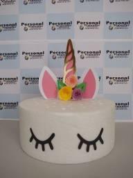 Topo de bolo e tag personalizada