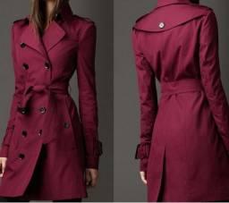 Nova Marca Feminina Trench Coat Longo Sobretudo Europa América Tendência Da Moda