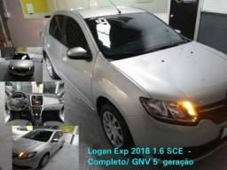 Renault Logan Expression 1.6 SCE +GNV 2018 Só 288,00 Semana