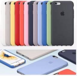 Capinha aveludada de silicone para Iphone