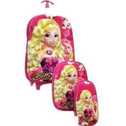 Kit Mochila Escola Lanch Estojo Bella Princess Mc3717 - Vozz
