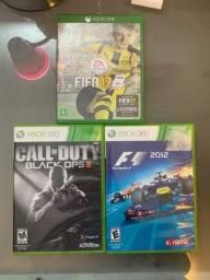 FIFA 17, COD e F1 2012 (xbox one e 360)