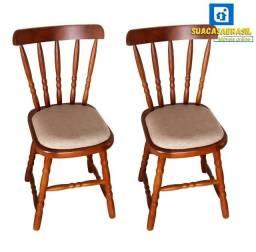 Título do anúncio: Cadeira Torneada Estofada (Cada) NOVO