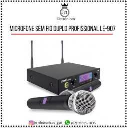 Título do anúncio: Microfone Profissional Duplo Sem Fio Dinâmico Lelong Le-907