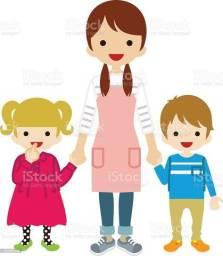 Babá!Cuido de crianças para os pais trabalharem.