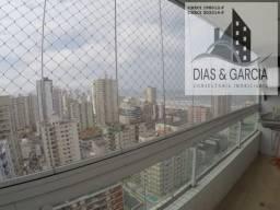 Apartamento na Tupi, Praia Grande SP 3 suítes, varanda gourmet, 161 m²