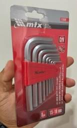 Jogo Chaves Allen Curtas 1,5-10mm 9Pçs - MTX