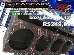 """caixa caixote caicha box 4 woofers 12 falante falantes 12"""""""